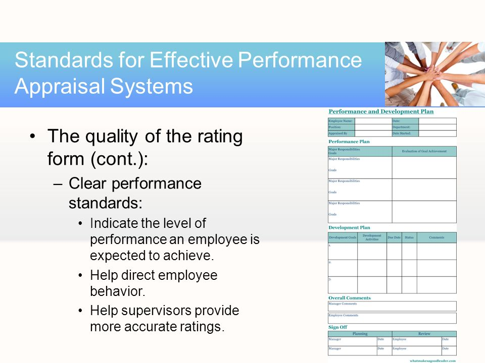 Creating an effective performance appraisal system