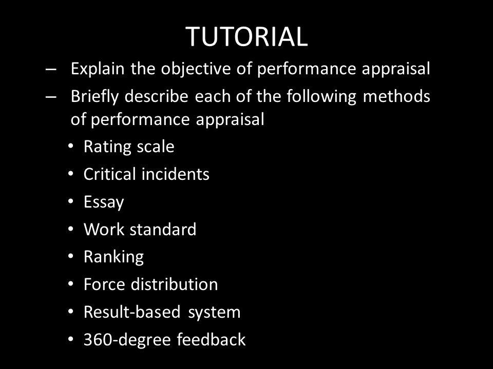developing performance appraisal system essay