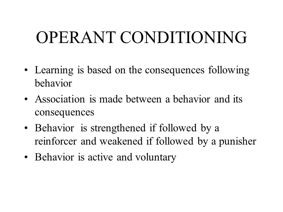 operant conditioning and prejudice 22 applications of operant conditioning prejudice—prejudice and discrimination  can be learned through positive reinforcement (positive attention, acceptance.