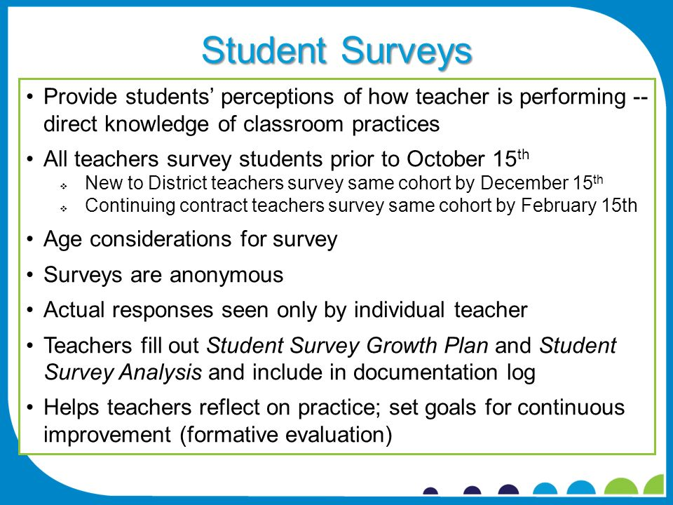 Classroom Design Survey ~ Qualities of effective teachers ppt download