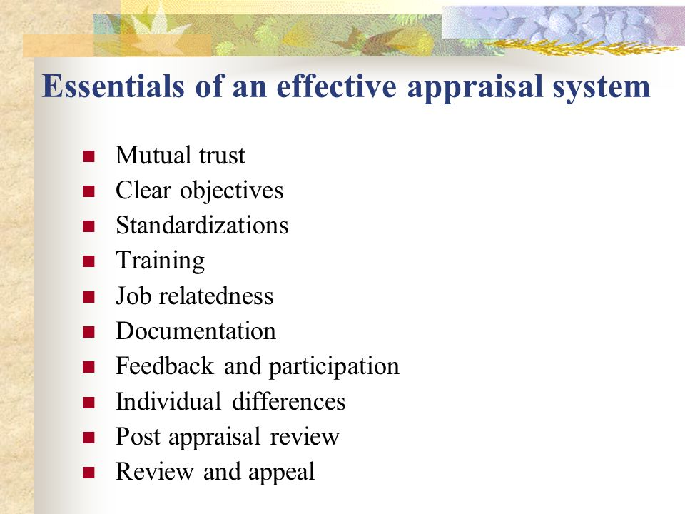 review of literature on effectiveness of performance appraisal system Characteristics will be explored ii literature review a effectiveness of  performance appraisal performance appraisal is one of the widely researched.