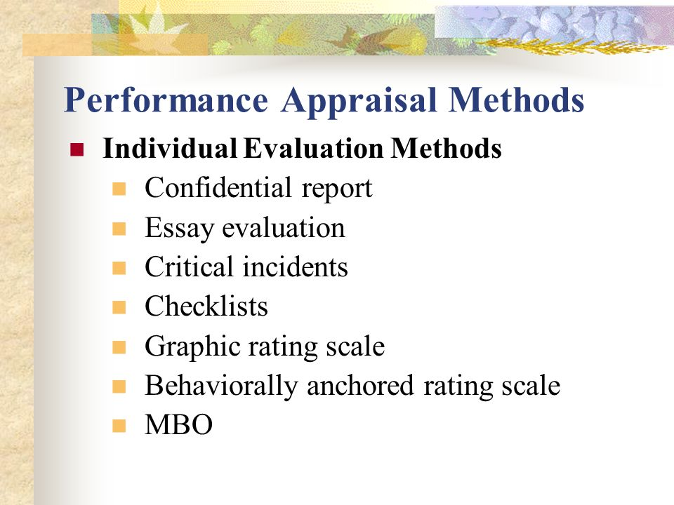 performance appraisal by naveed chiragh ppt video online  performance appraisal methods