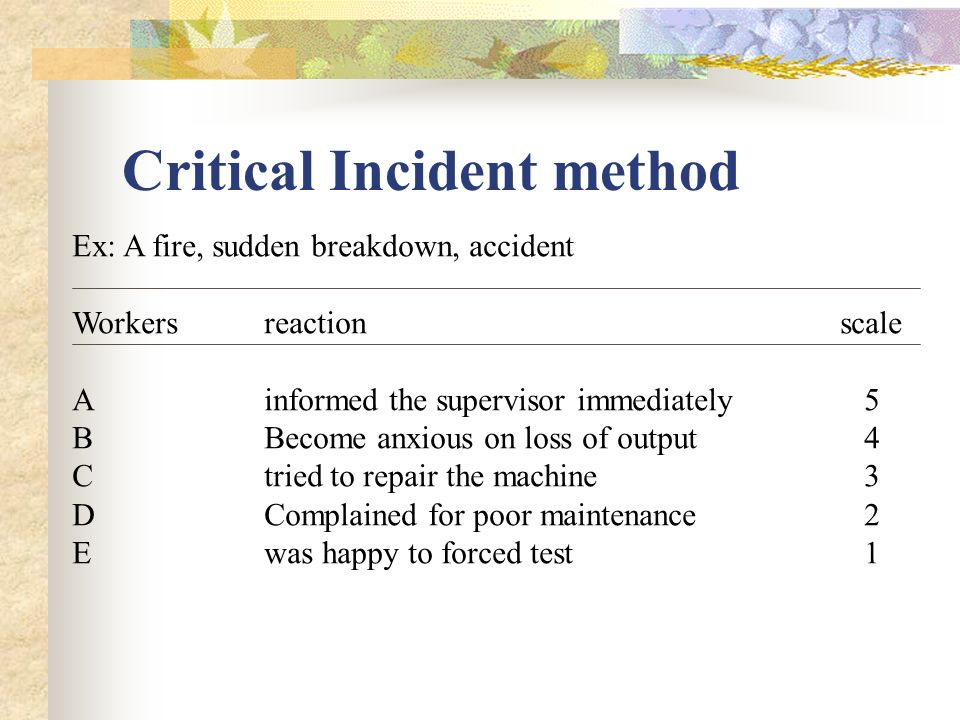 what is a critical incident in nursing