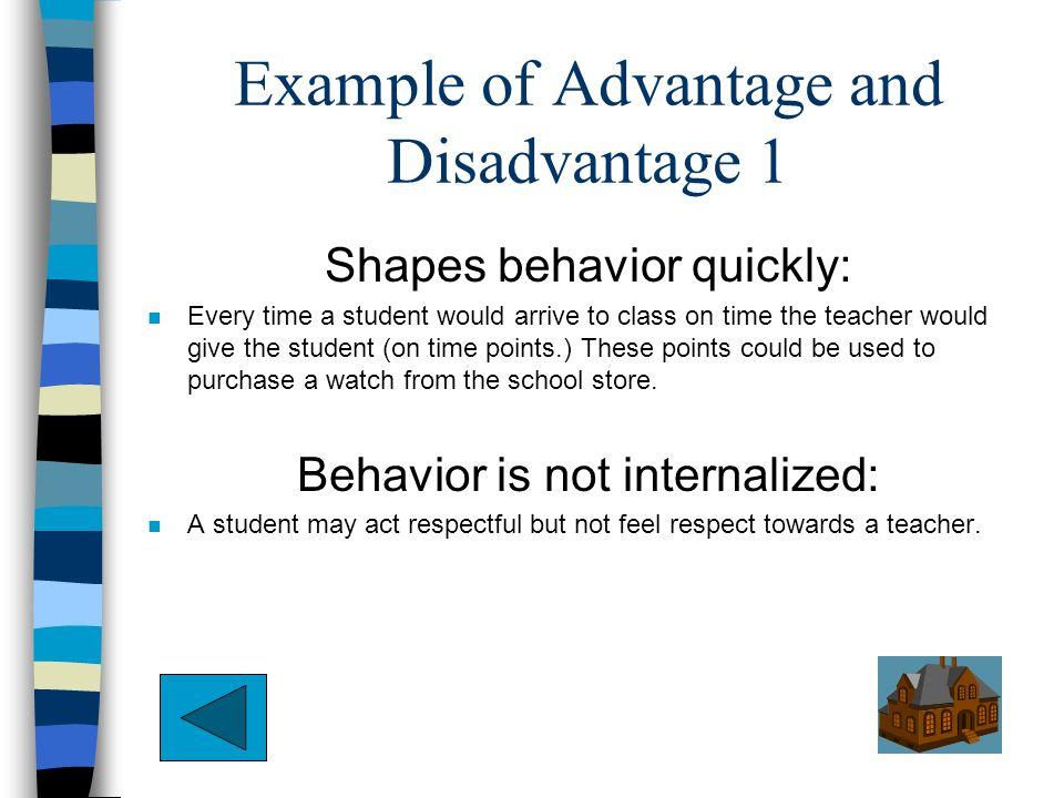 advantage and disadvantage positive discipline