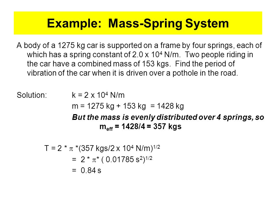 Example: Mass-Spring System