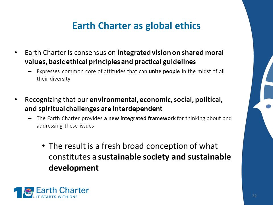 the earth charter The little earth charter: eight principles for a better world a teachers guide to the principles of the earth charter for children little animation is for kids aged 4-8.