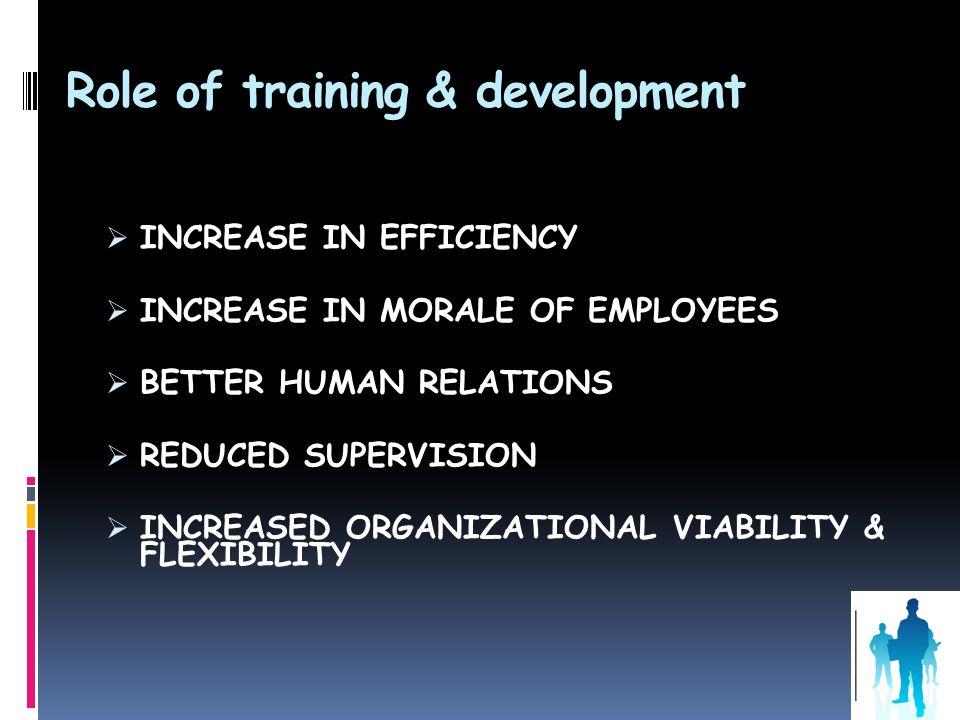 Role of training & development