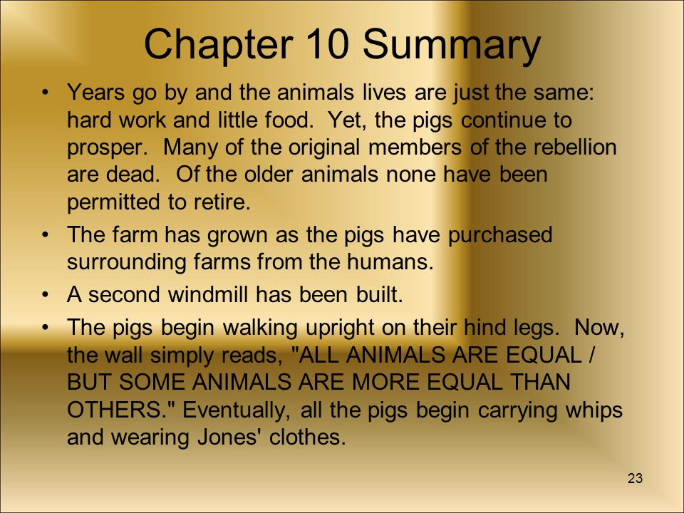 Summary and comment on animal farm essay