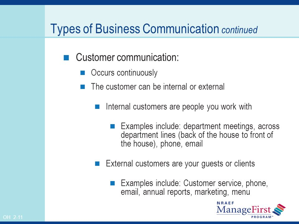 examples of internal and external customers What is internal customer external customers have the customer service reps are the internal customers) the customer service reps were responsible for.
