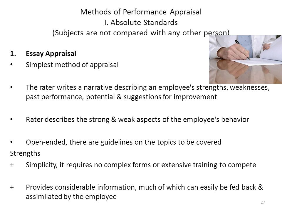 how to write an appraisal essay