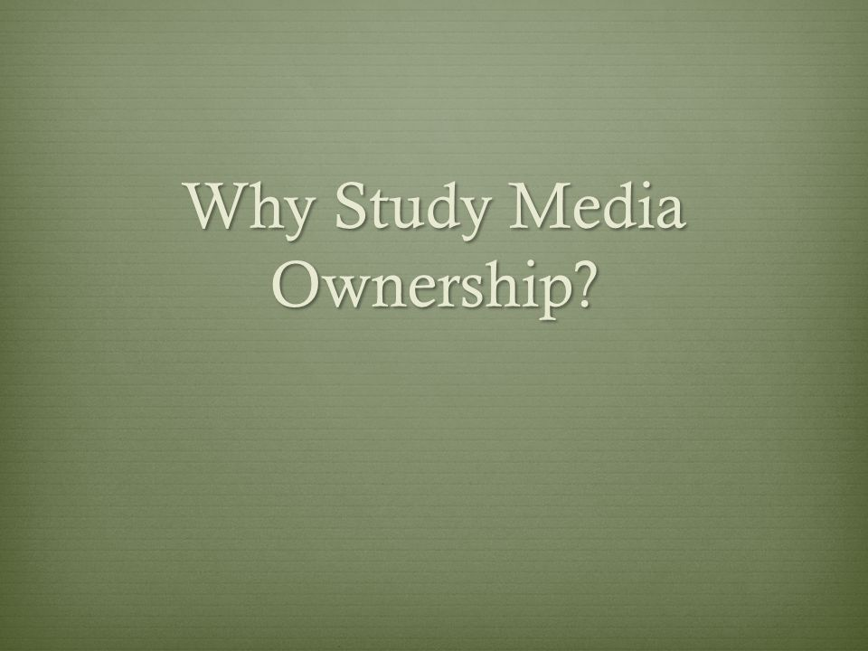 harmful effects of the concentration of media ownership media essay The government's proposed changes to media ownership laws are  to be in the  public interest to allow this kind of concentration of influence.