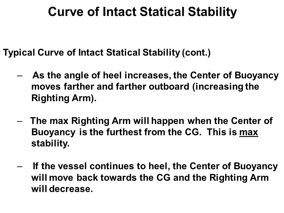 statical stability V executive summary objective the objective of this study was to assess the static stability and thereby determine the operational limits of a proposed barge crane.