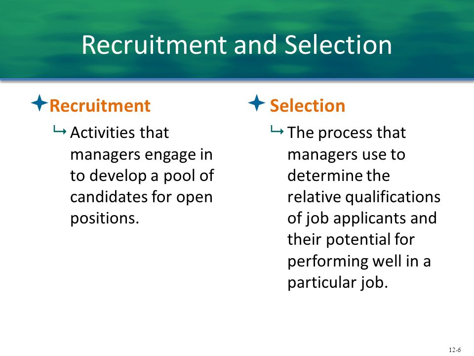 recruitment and selection process in human resource management pdf