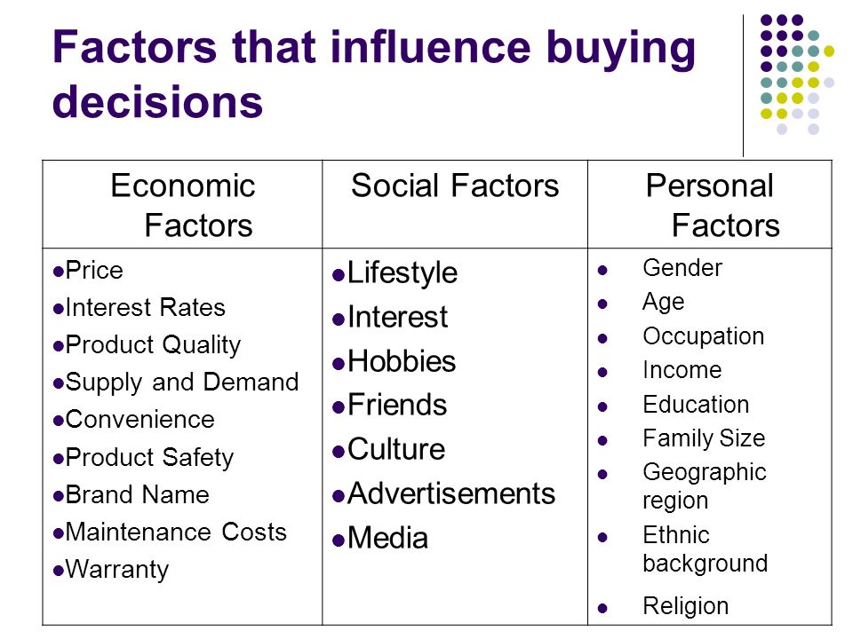 factors that influence the decision of Decision the results show there are many social and interpersonal factors that influence customers to decide about any product and so happen in mobile phone also.
