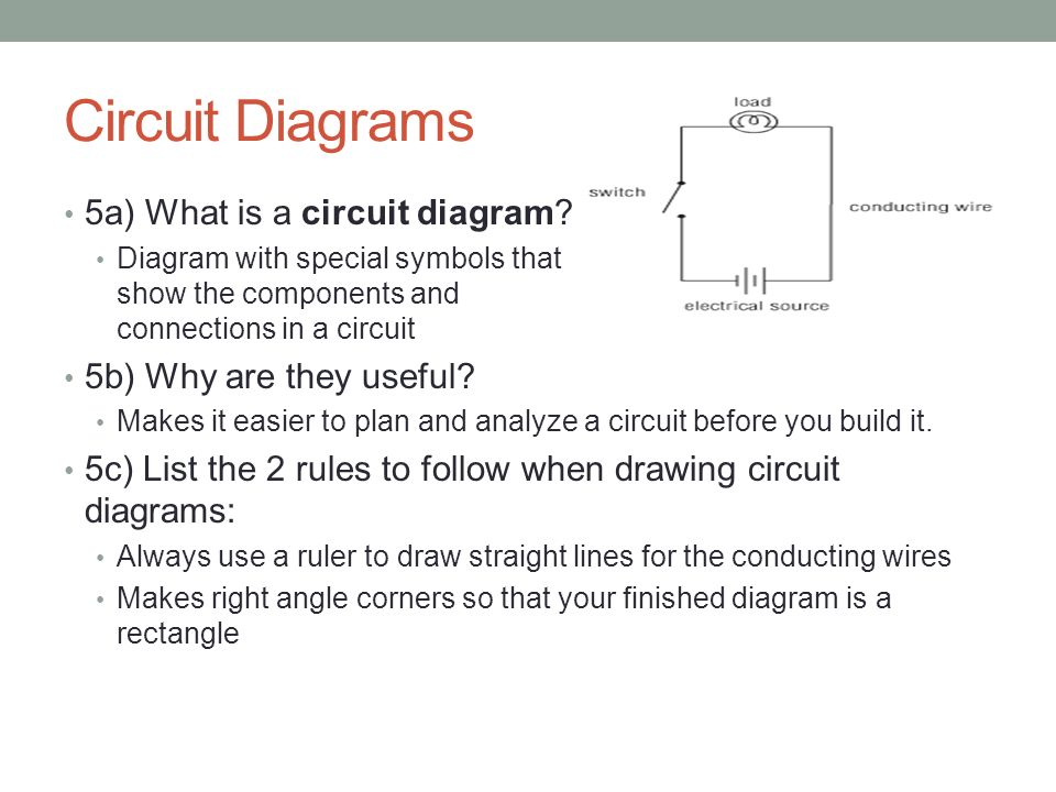 circuit diagram rules the control of electricity in circuits - ppt video online ...