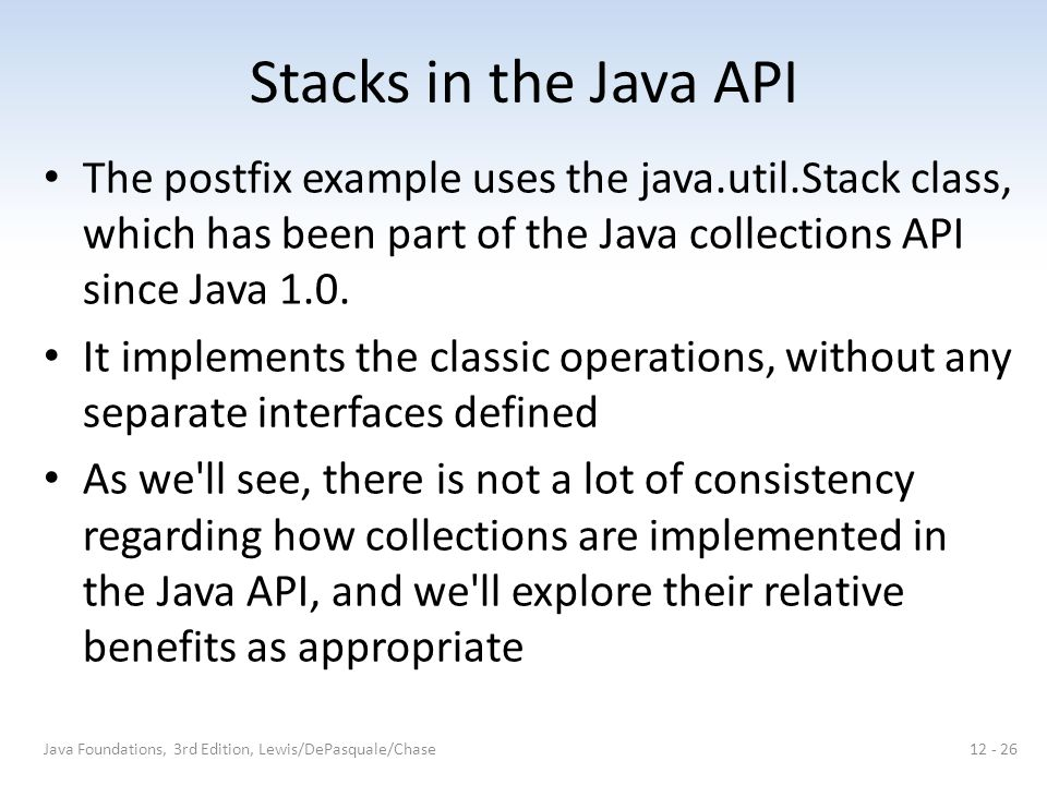 Chapter 12 Introduction to Collections - Stacks - ppt video online ...