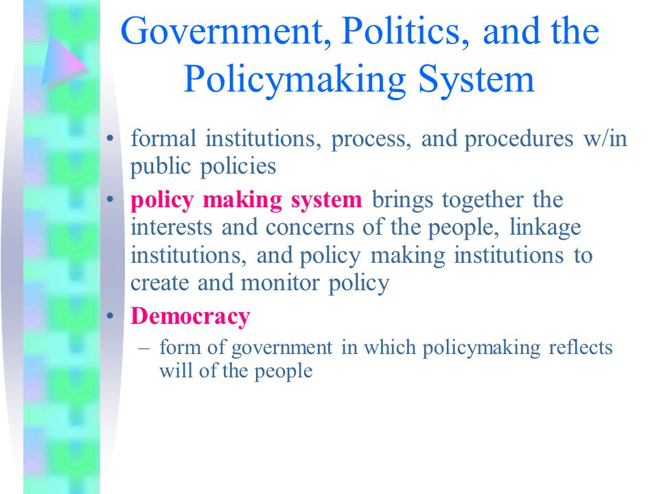 policy making process in the united states essay Policy making process essay examples 1 total result the effects of political parties and pressure groups on the policy making process 2,125 words 5 pages company.