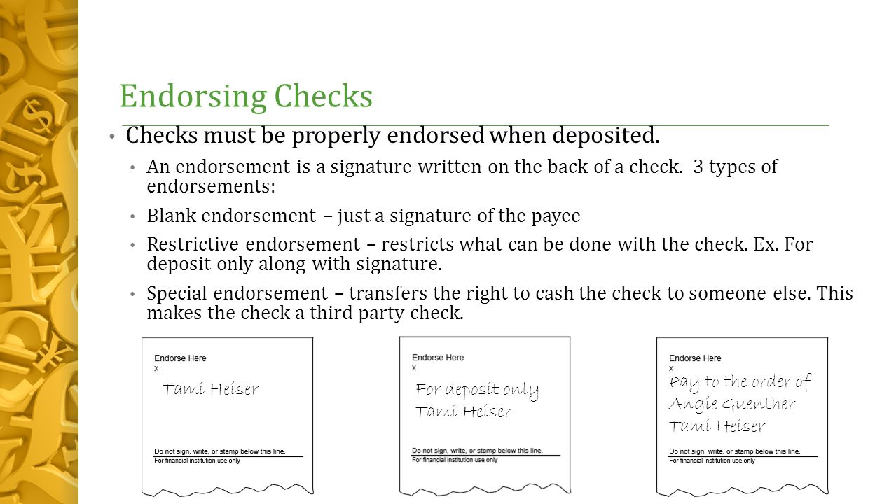 How To Endorse A Check To Pay Someone Else By Rudolfo Anaya 13 Endorsing  Checks How