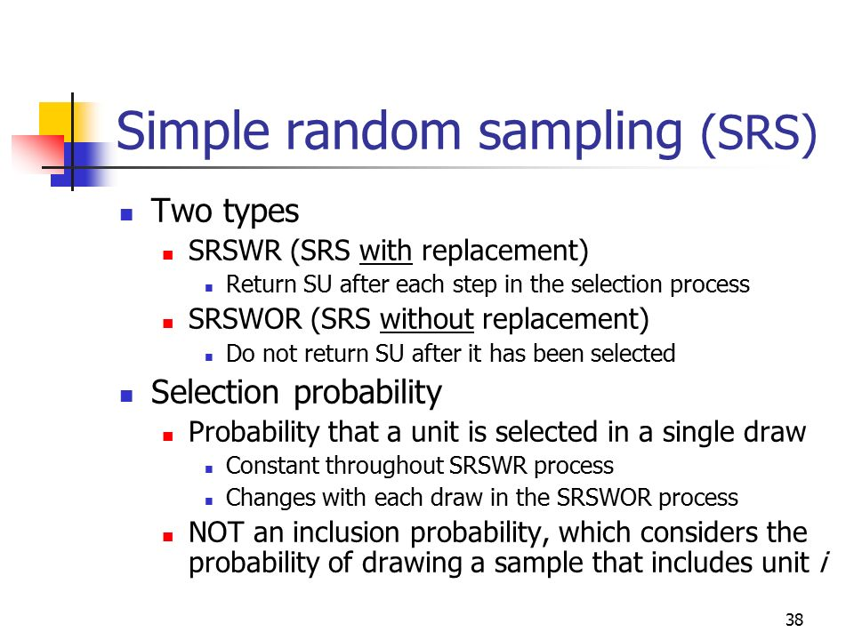 Ch 2: probability sampling, SRS - ppt download
