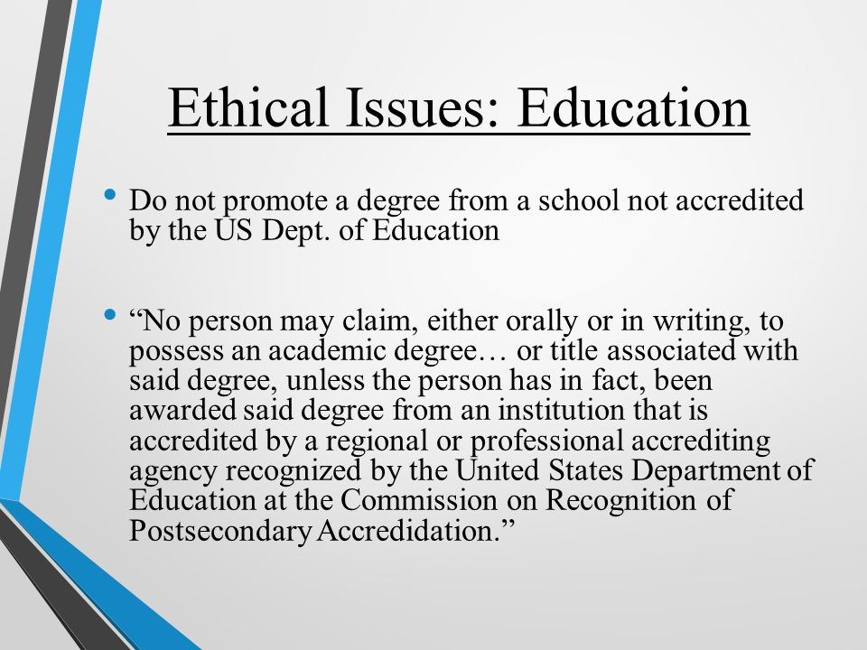 ethical issues in education pdf