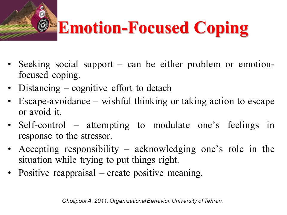 distinguish between problem focused coping and emotion focused Coping following traumatic brain  coping, namely problem-focused and emotion  it may be necessary to distinguish between active and passive coping as well as.