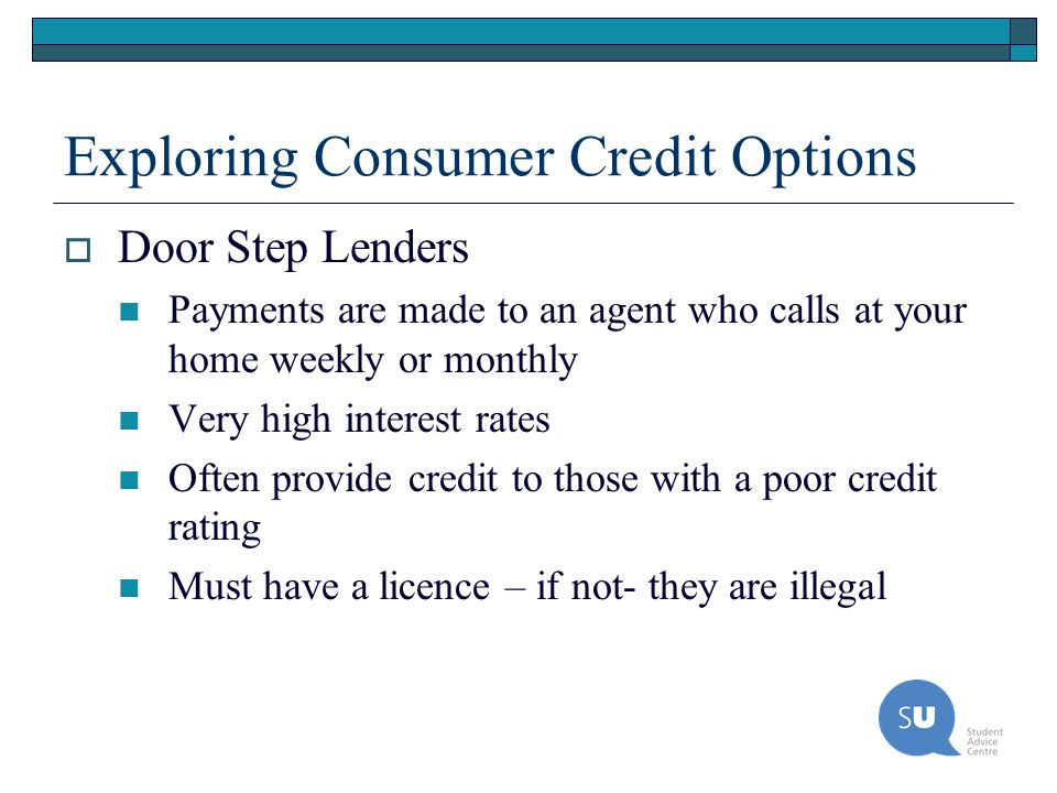 Exploring Consumer Credit Options