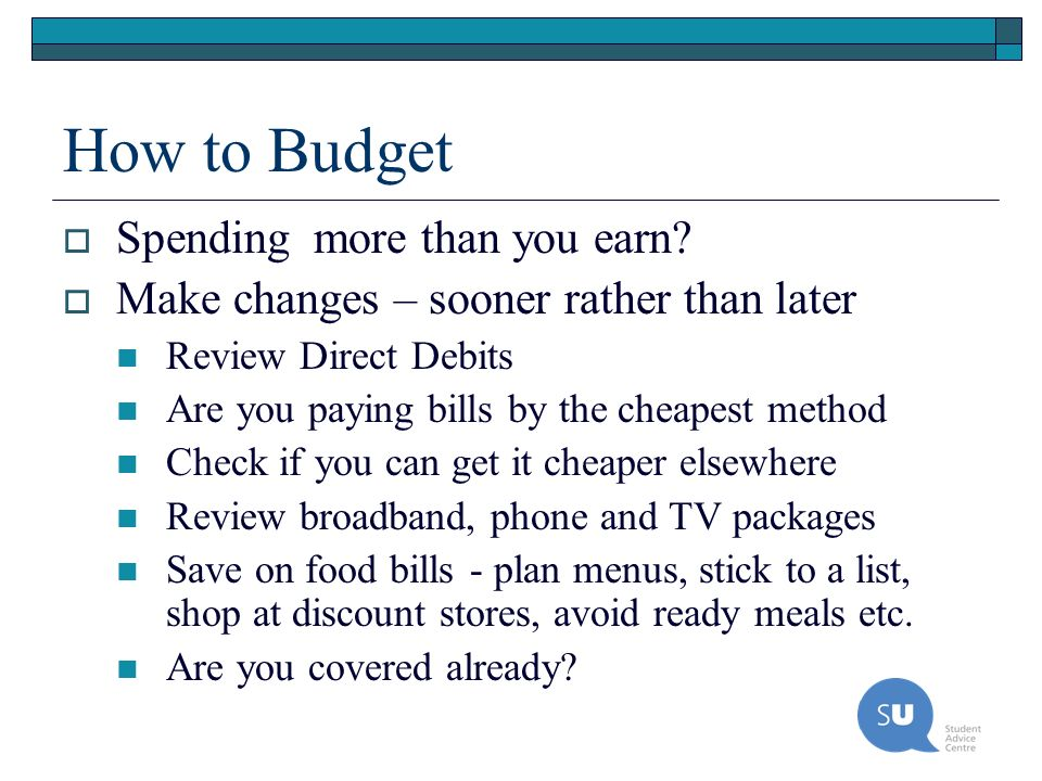 How to Budget Spending more than you earn