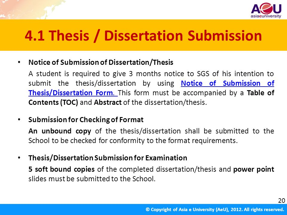 Thesis Submission Form