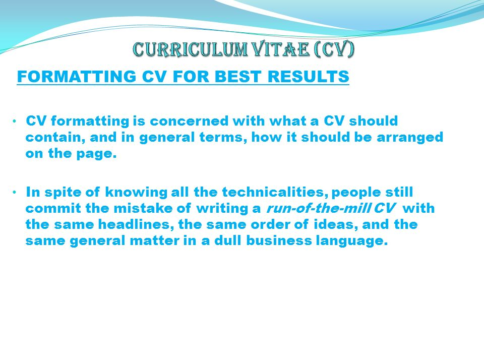 is a curriculum vitae the same as a resumes