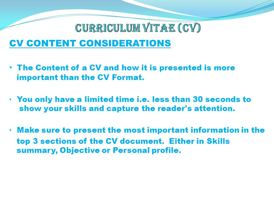 IT Manager CV Sample
