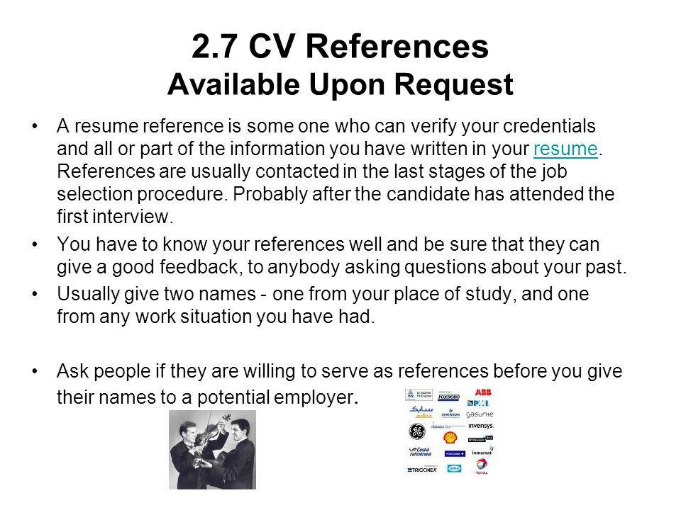 Is It Ok To Put References Available Upon Request On Resume - Make ...