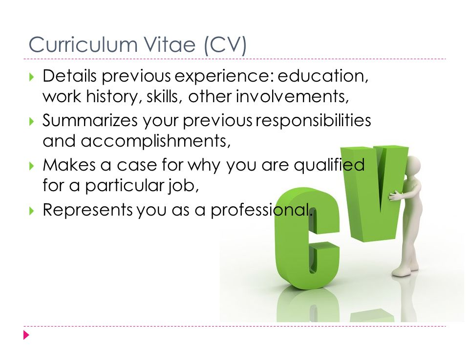 3  developing your cv importance of cv