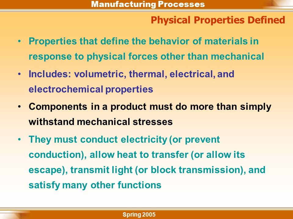 Industrial Engineering Department 2 – Properties of ...