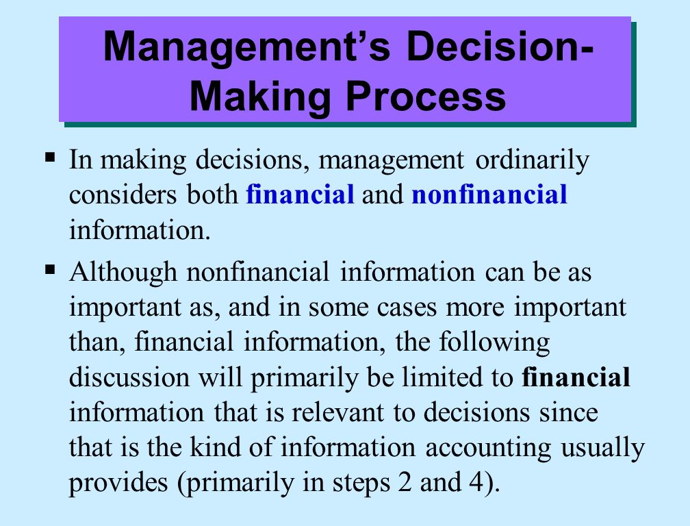 case studies in management and managerial decision making Courses in the financial management use harvard university's case studies on (recommended as preparation for statistics for managerial decision making.