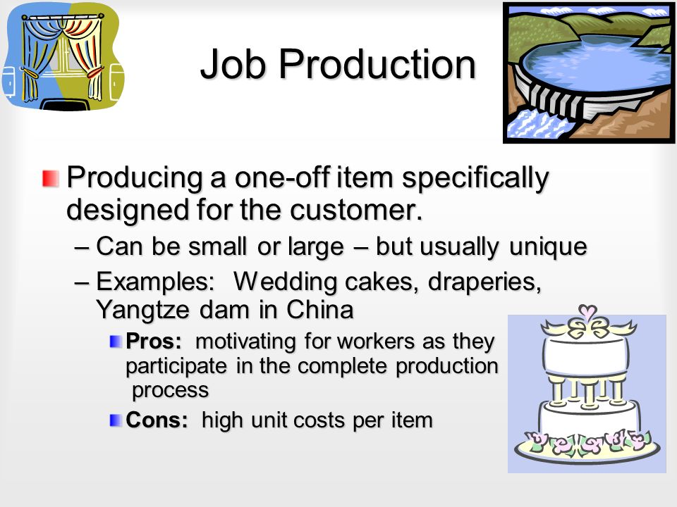 Distinct Features of Job Production