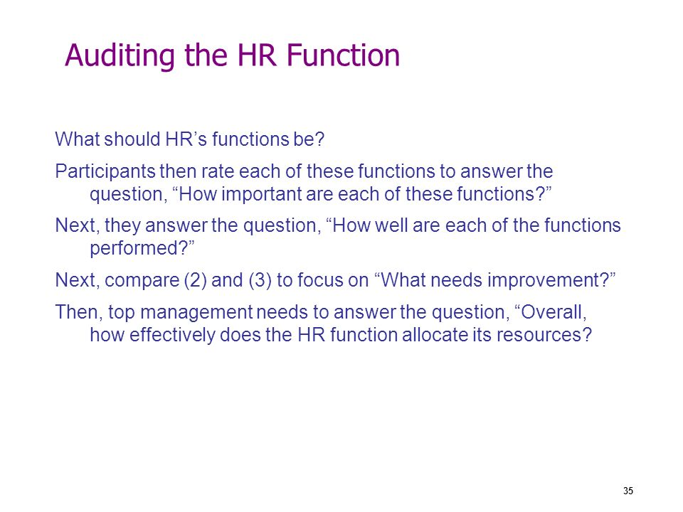 what specific functions should an hr As a unit, hr performs a comprehensive list of personnel duties at the core of any organization these functions are linked  or should be paid.