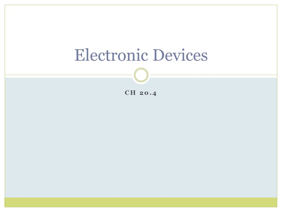 Electronic Devices Ch 20.4