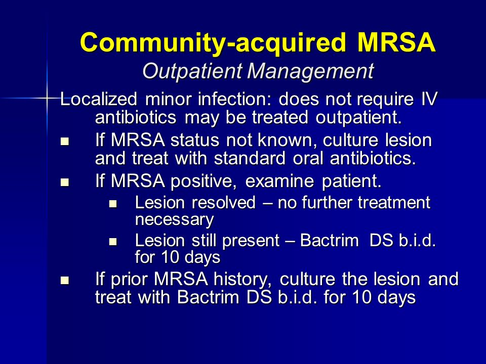 Rifampin and bactrim for mrsa treatment
