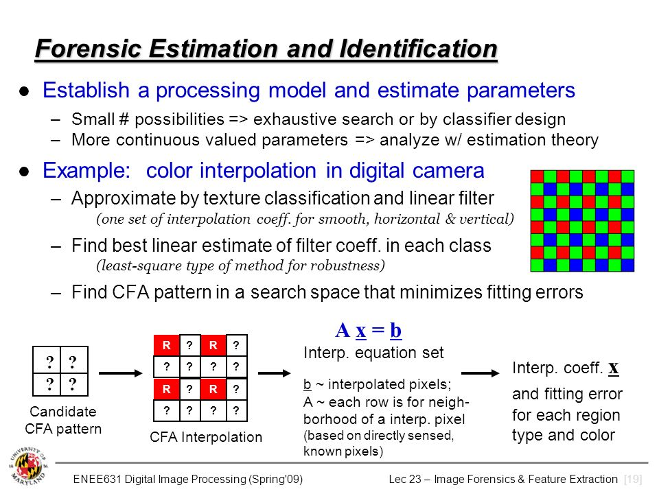 cfa identification Source camera identification based on cfa interpolation abstract: in this work,  we focus our interest on blind source camera identification problem by extending .