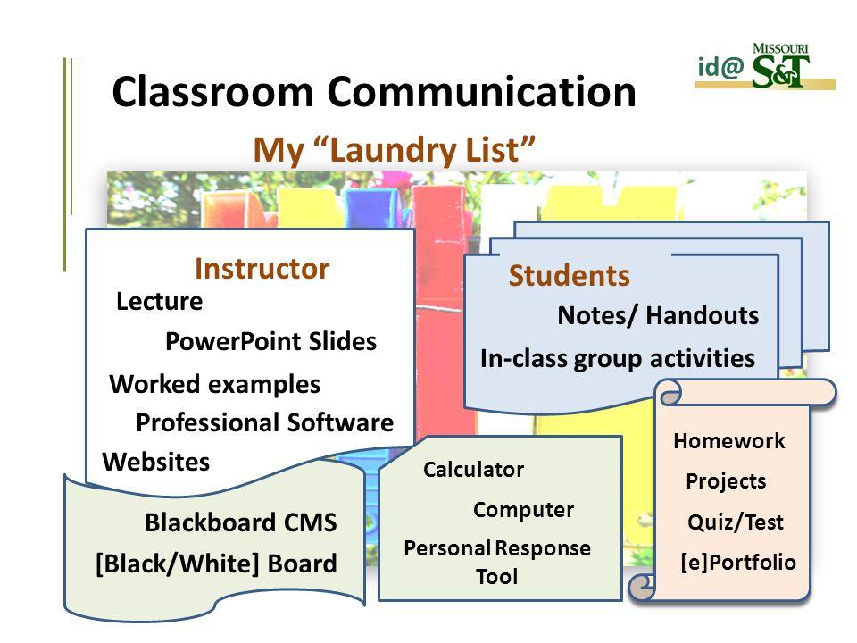 Classroom Design Process ~ Classroom communication creating synergy between