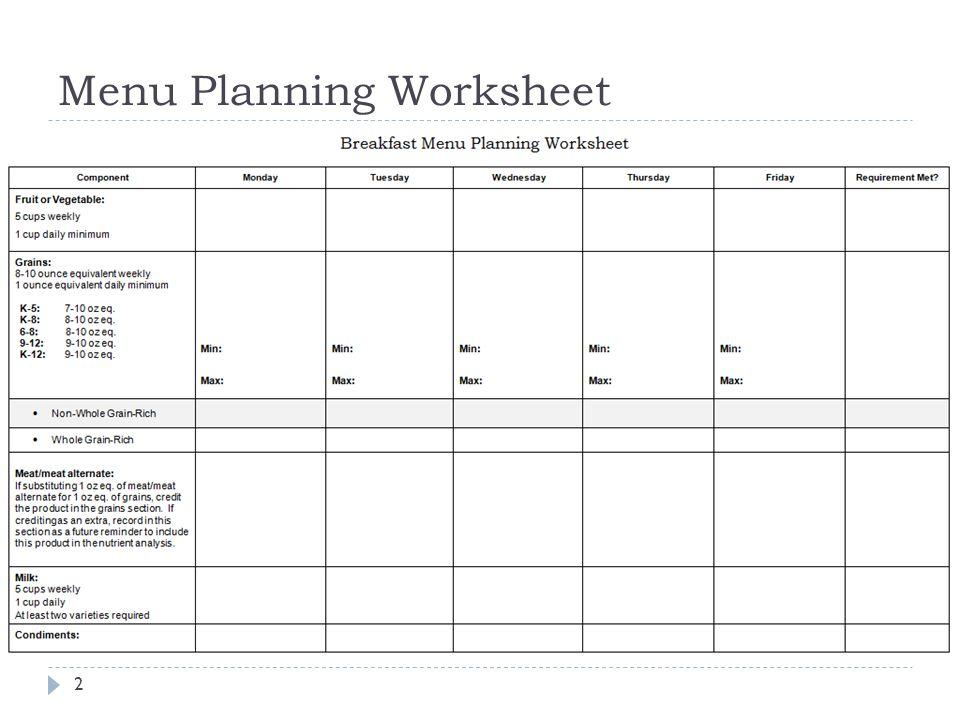 Menu Planning Tools. - ppt download