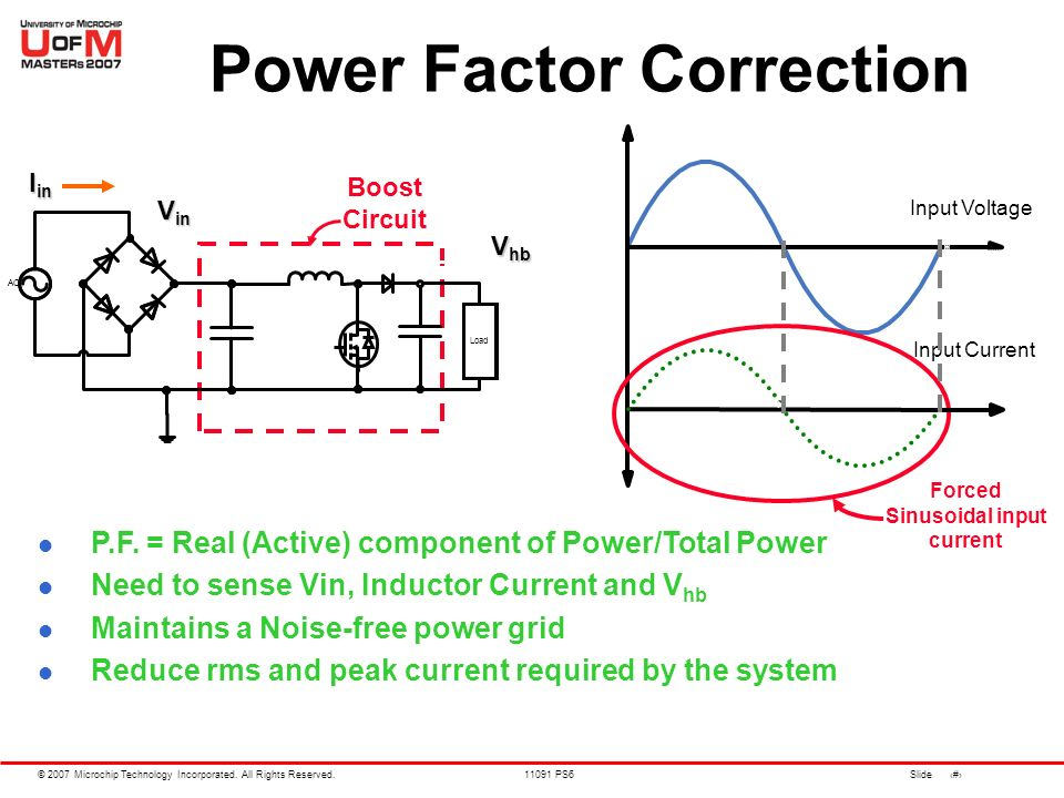 power factor correction Calculating power factor chapter 11 - power factor as was mentioned before, the angle of this this is not normally a problem because the power factor correction is applied close to the offending load, like an induction motor.