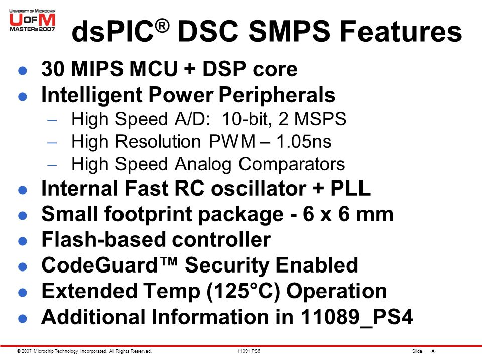 advanced smps applications using the dspic u00ae dsc smps