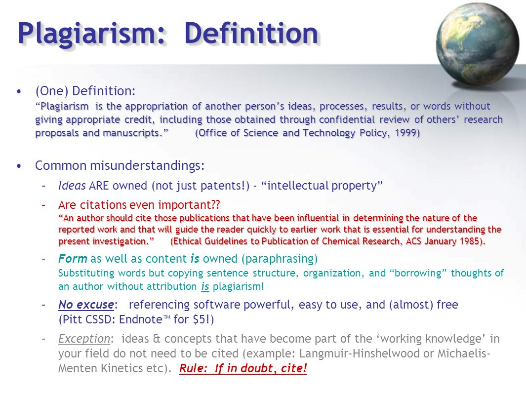 defining plagiarism Defining plagiarism and academic integrity what is plagiarism plagiarism is  the act of stating or implying that another person's work is your own you commit .