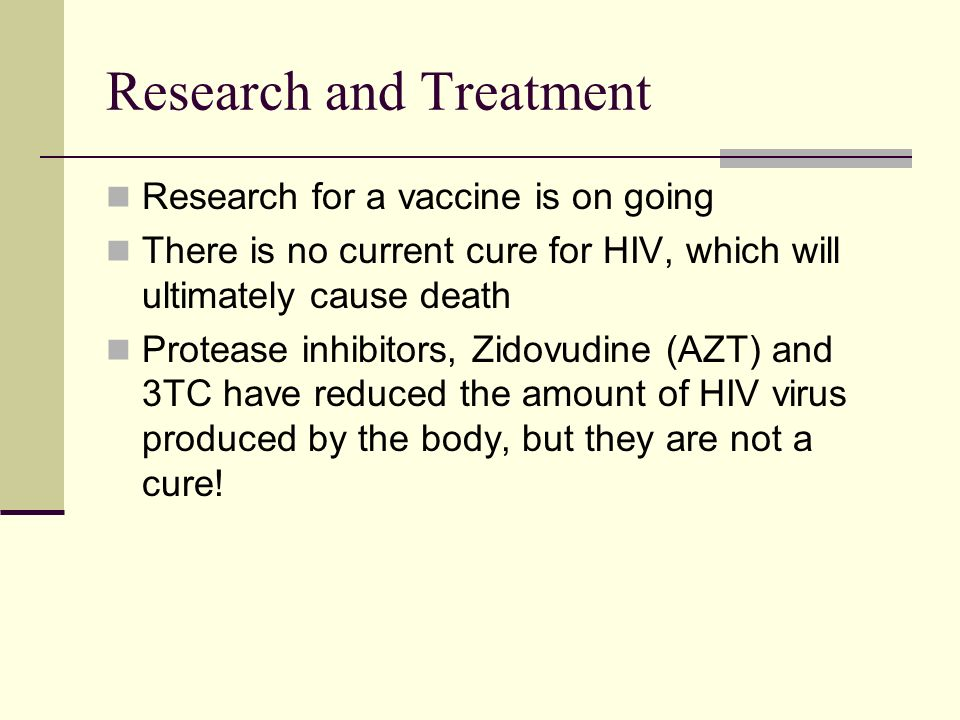 the aids virus and azt treatment Get a historical overview of the hiv/aids pandemic from human  there are several theories as to how the hiv virus – the virus that causes aids  (azt), and the .