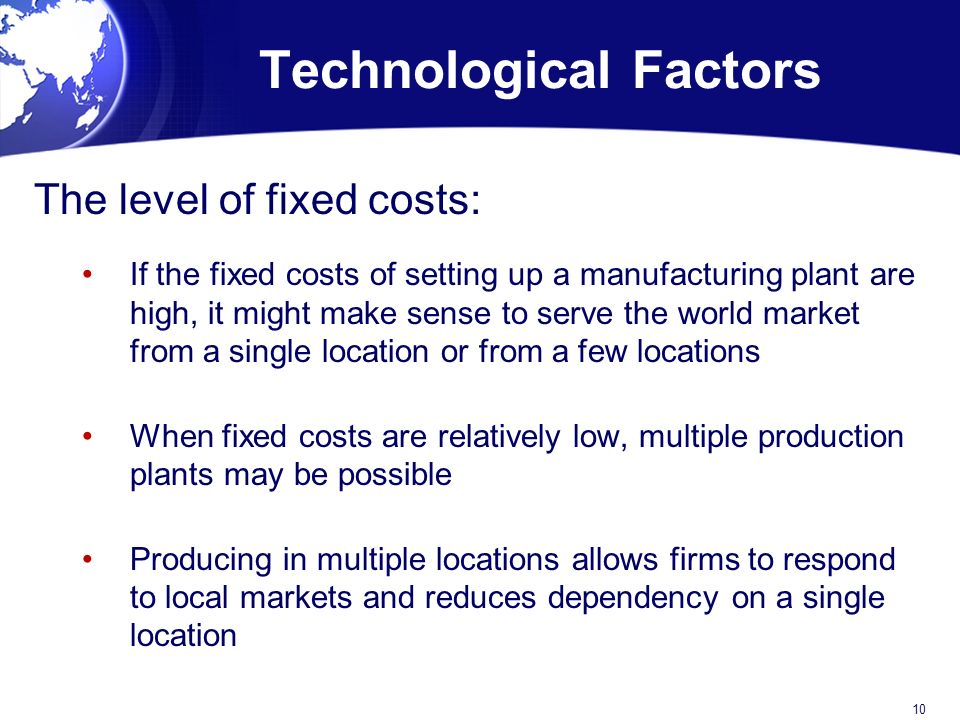 Technological Factors. Global Production  Outsourcing and Logistics   ppt video online