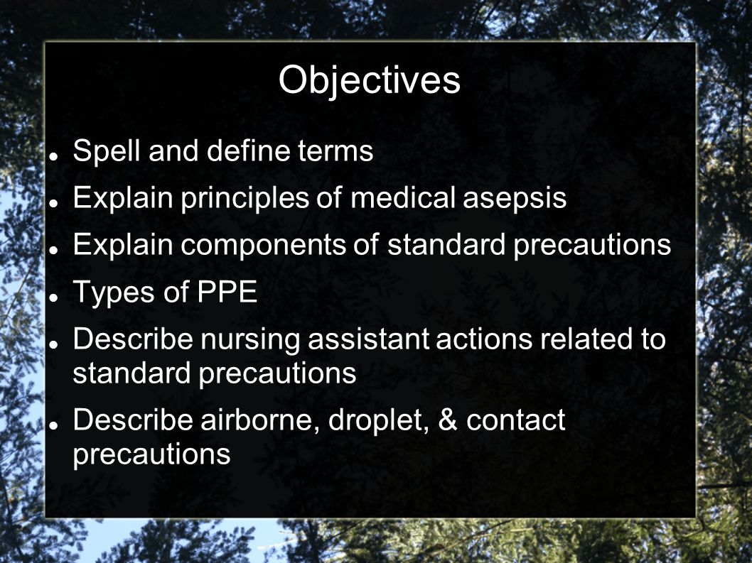 Objectives Spell and define terms