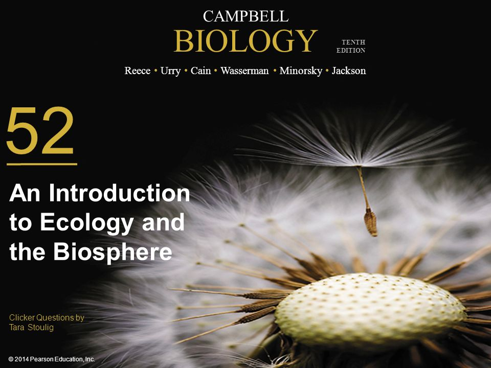 An Introduction to Ecology and the Biosphere