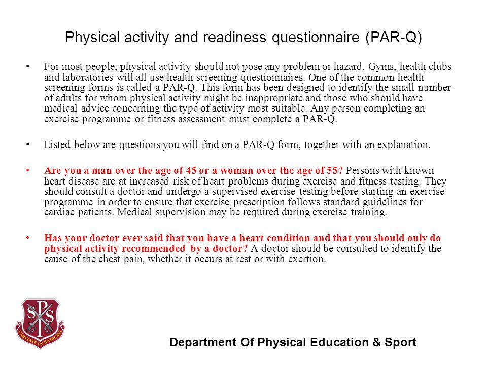 Questionnaire measures readiness to change physical activity behavior