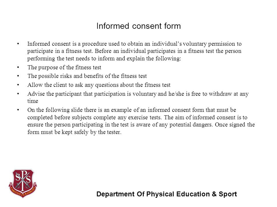 Unit 6 – Fitness Testing for Sport & Exercise - ppt video online ...